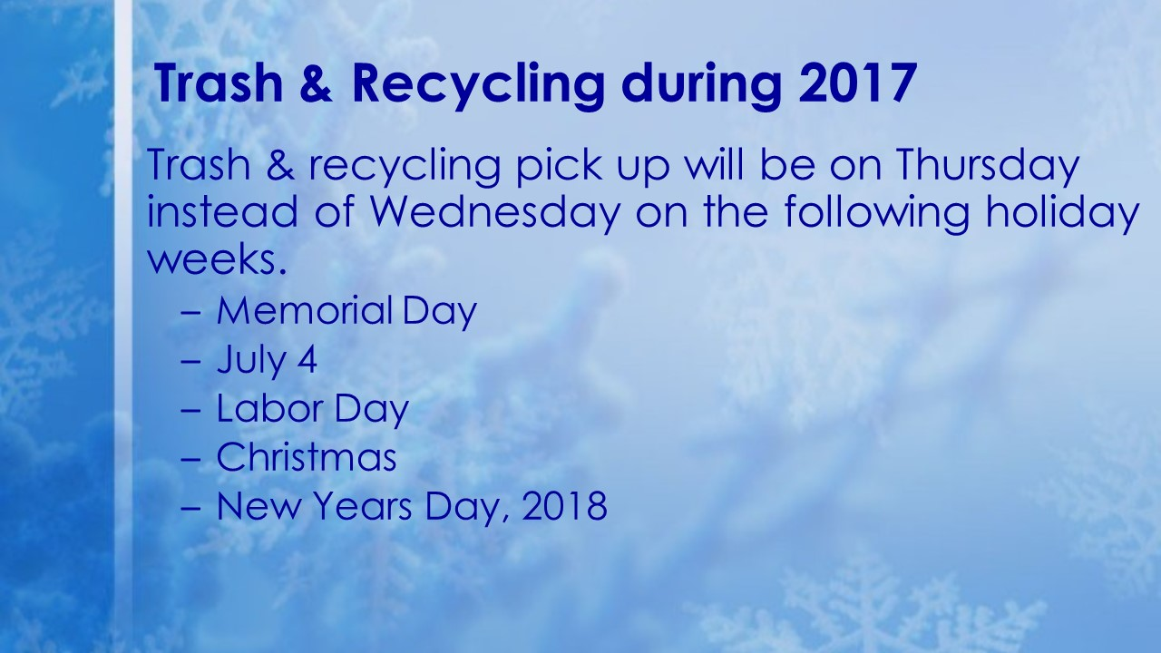 Trash & Recycling over the Holidays 2017 v2