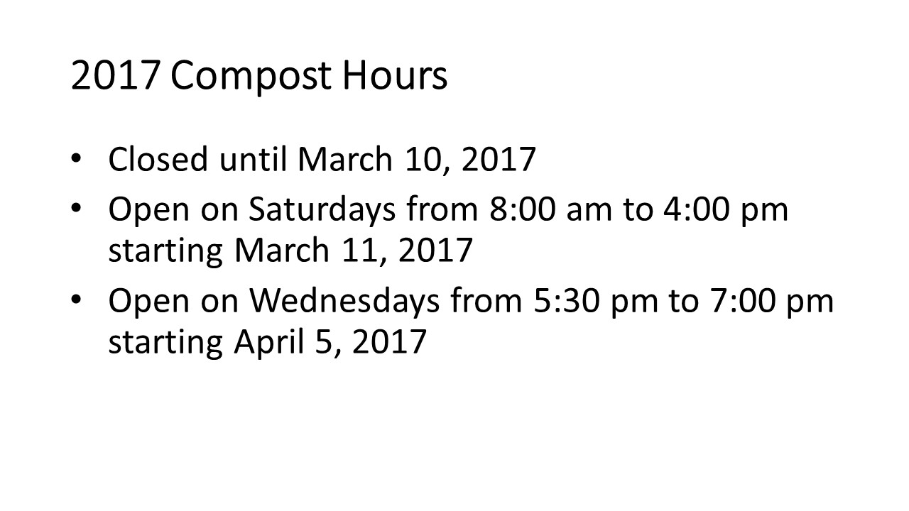 Compost Hours 2017