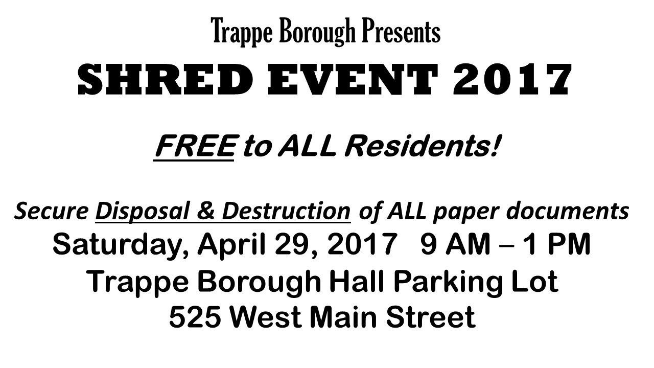 Trappe Shred Event
