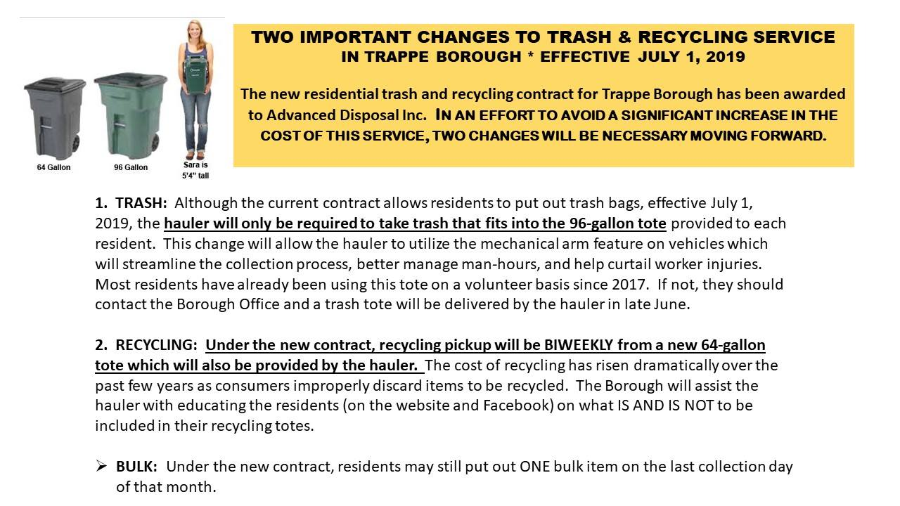 Trash changes