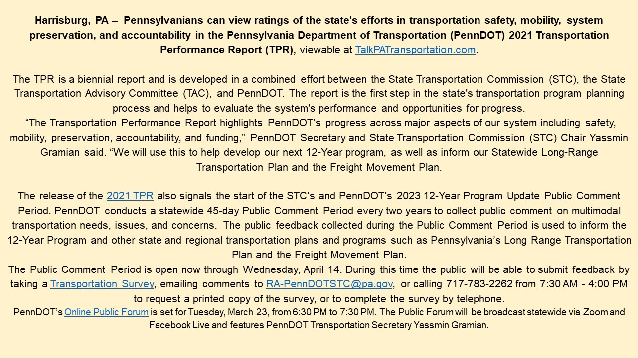 PennDot Survey